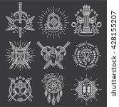 line vector logo emblems | Shutterstock .eps vector #428155207