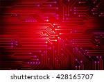 red cyber high tech circuit... | Shutterstock .eps vector #428165707