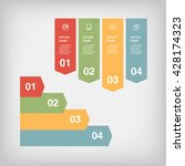 infographic design  options... | Shutterstock .eps vector #428174323