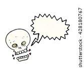 freehand speech bubble textured ... | Shutterstock .eps vector #428180767