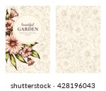 vector greeting card  posters ... | Shutterstock .eps vector #428196043