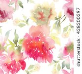 peony seamless pattern. bouquet ... | Shutterstock . vector #428200297