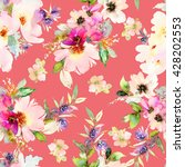 seamless pattern with flowers... | Shutterstock . vector #428202553