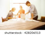 empty desk space with business... | Shutterstock . vector #428206513