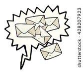 freehand speech bubble textured ... | Shutterstock .eps vector #428207923