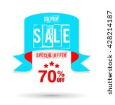 super sale banner and flag | Shutterstock .eps vector #428214187
