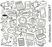business doodle icons hand made | Shutterstock .eps vector #428220697