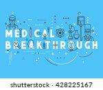 medicine concept breakthrough.  ... | Shutterstock .eps vector #428225167