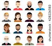 user avatars.male and female... | Shutterstock .eps vector #428226583