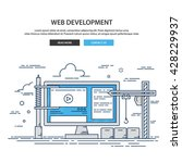 web development background art...