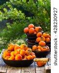 Orange Persimmon Kaki Fruits I...