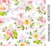 summer garden flowers seamless... | Shutterstock .eps vector #428231533