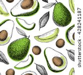 vector hand drawn avocado... | Shutterstock .eps vector #428241187