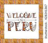 peru lettering tribal... | Shutterstock .eps vector #428241367