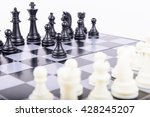 chess isolated on white... | Shutterstock . vector #428245207
