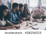 business meeting. young... | Shutterstock . vector #428256523