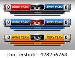 scoreboard design elements for... | Shutterstock .eps vector #428256763
