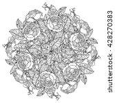 luxury flowers bouquet in shape ... | Shutterstock .eps vector #428270383