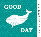 whale on green background with... | Shutterstock .eps vector #428271313