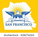 welcome to usa. san francisco... | Shutterstock .eps vector #428276263