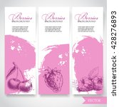 organic eco berries banners.... | Shutterstock .eps vector #428276893