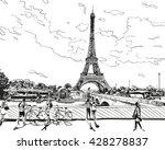 eiffel tower vector sketch.... | Shutterstock .eps vector #428278837