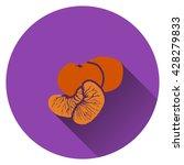 mandarin icon. flat design....