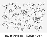 flourish swirl ornate... | Shutterstock .eps vector #428284057