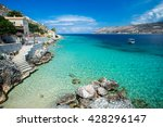turquoise waters of... | Shutterstock . vector #428296147