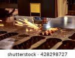 cnc laser cutting of metal ... | Shutterstock . vector #428298727
