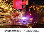 cnc laser cutting of metal ... | Shutterstock . vector #428299063