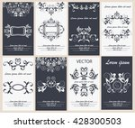 set flyer design template... | Shutterstock . vector #428300503