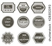 set quality mark  vintage... | Shutterstock . vector #428302093