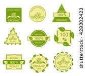 organic natural emblems... | Shutterstock . vector #428302423