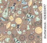 vector seamless pattern. hand... | Shutterstock .eps vector #428303497