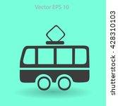 flat tram icon. vector | Shutterstock .eps vector #428310103