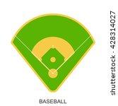 baseball field icon. green... | Shutterstock .eps vector #428314027