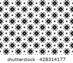 ornament with black and white... | Shutterstock . vector #428314177