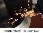 drill with diamond tipped... | Shutterstock . vector #428334163