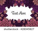 vector mandala background.... | Shutterstock .eps vector #428345827