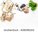flat lay for social media... | Shutterstock . vector #428358163