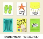 cute doodle summer party cards  ... | Shutterstock .eps vector #428360437