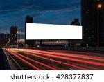 blank billboard on the highway... | Shutterstock . vector #428377837