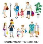 summer shopping people set ... | Shutterstock .eps vector #428381587