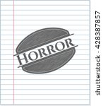 horror drawn with pencil strokes | Shutterstock .eps vector #428387857