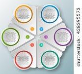 vector abstract 3d paper... | Shutterstock .eps vector #428395573