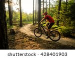 mountain biker riding on bike... | Shutterstock . vector #428401903
