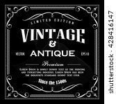 vintage frame hand drawn border ... | Shutterstock .eps vector #428416147