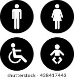 Toilet Sign.vector