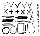 hand drawn sketch black marker  ... | Shutterstock .eps vector #428420053